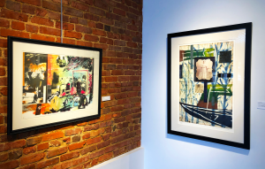 two prints, one by Allen L. Edmunds and one by Radcliffe Bailey